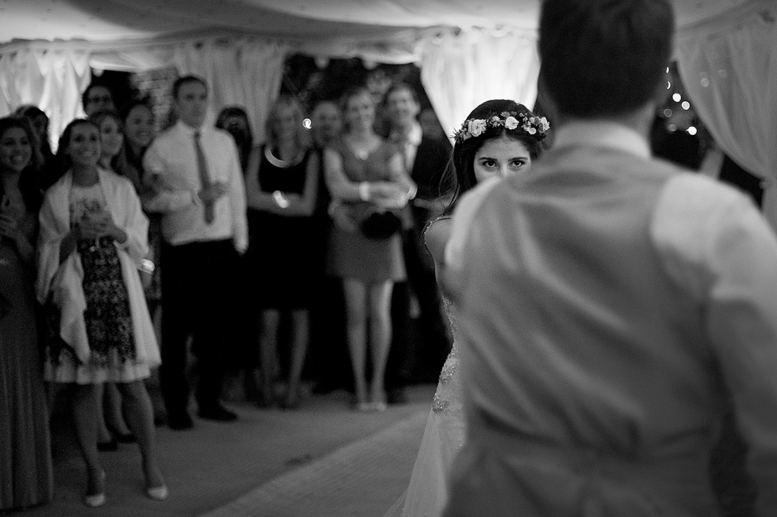 brides eyes, flowers, dance, wedding marquee
