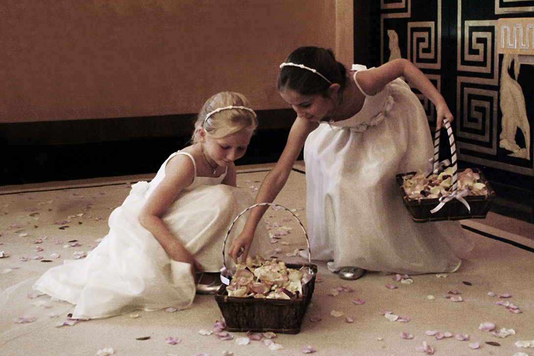flower girls, Eltham palace, confetti,