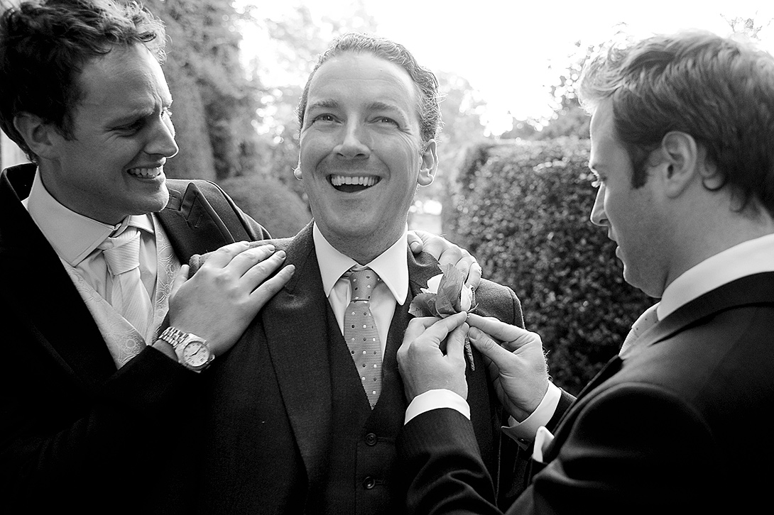 groom with button hole