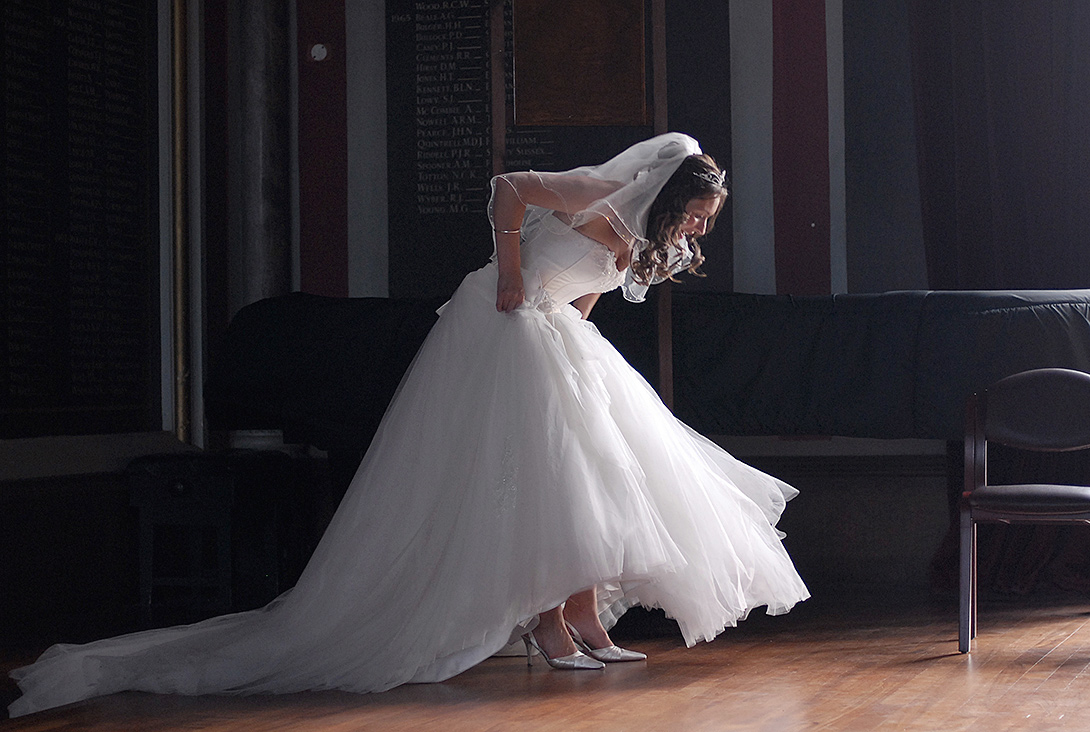 bride on stage